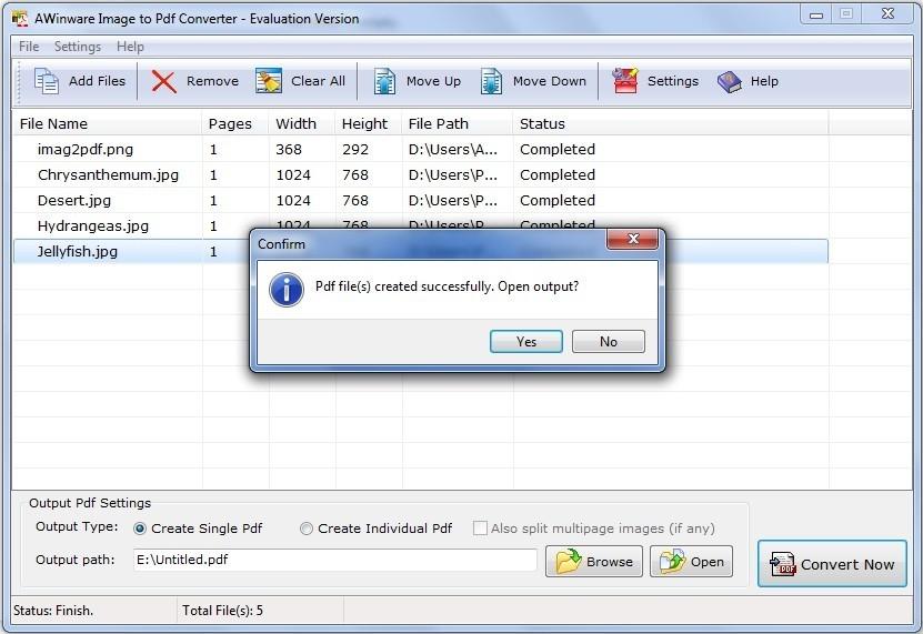 Jpg Bmp Psd to pdf Conversion