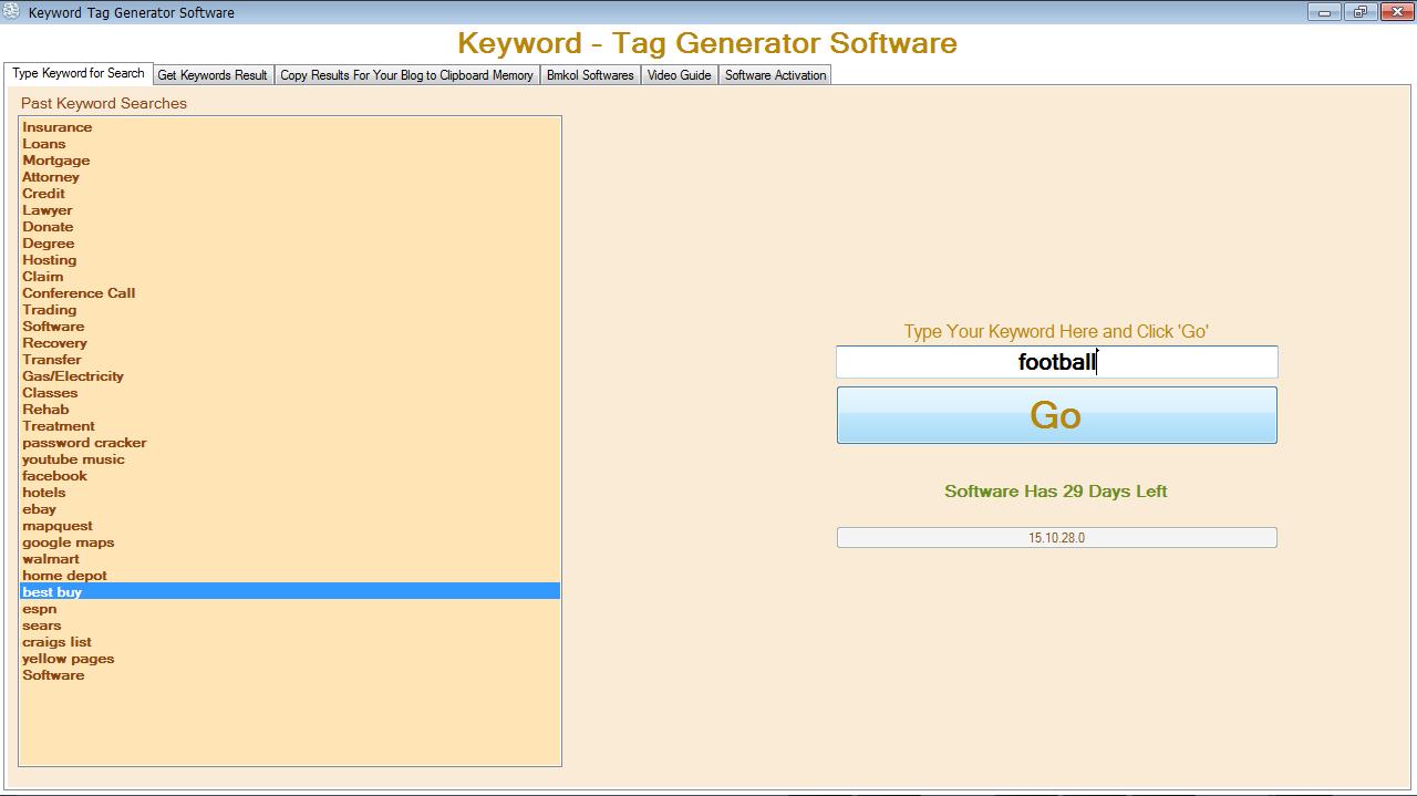 Keyword Tag Generator
