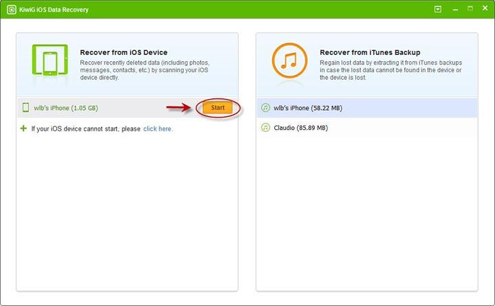 KiwiG iOS Data Recovery Free