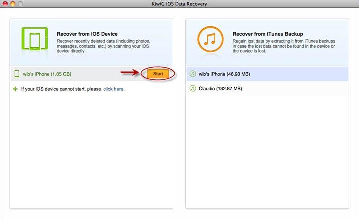 KiwiG iOS Data Recovery for Mac
