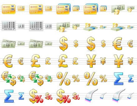 Large Commerce Icons