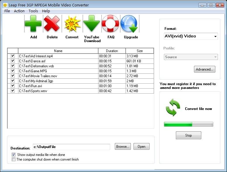 Leap Free 3GP MPEG4 Mobile Video