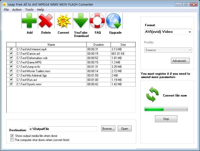 Leap Free All to AVI MPEG4 WMV Converter