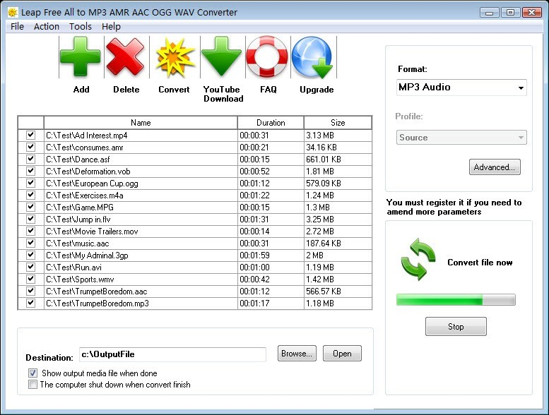 Leap Free All to MP3 AMR AAC Converter