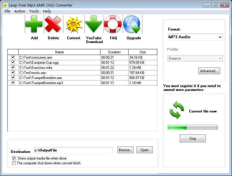 Leap Free MP3 AMR OGG Converter