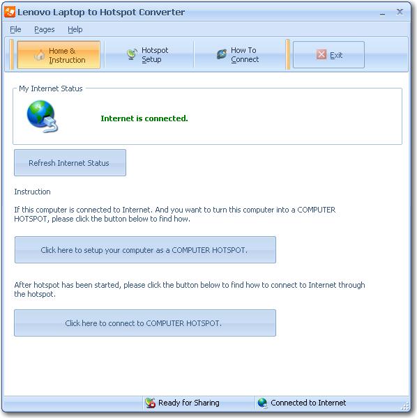 Lenovo Laptop to Hotspot Converter