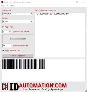 Linear Barcode Font Encoder Software App