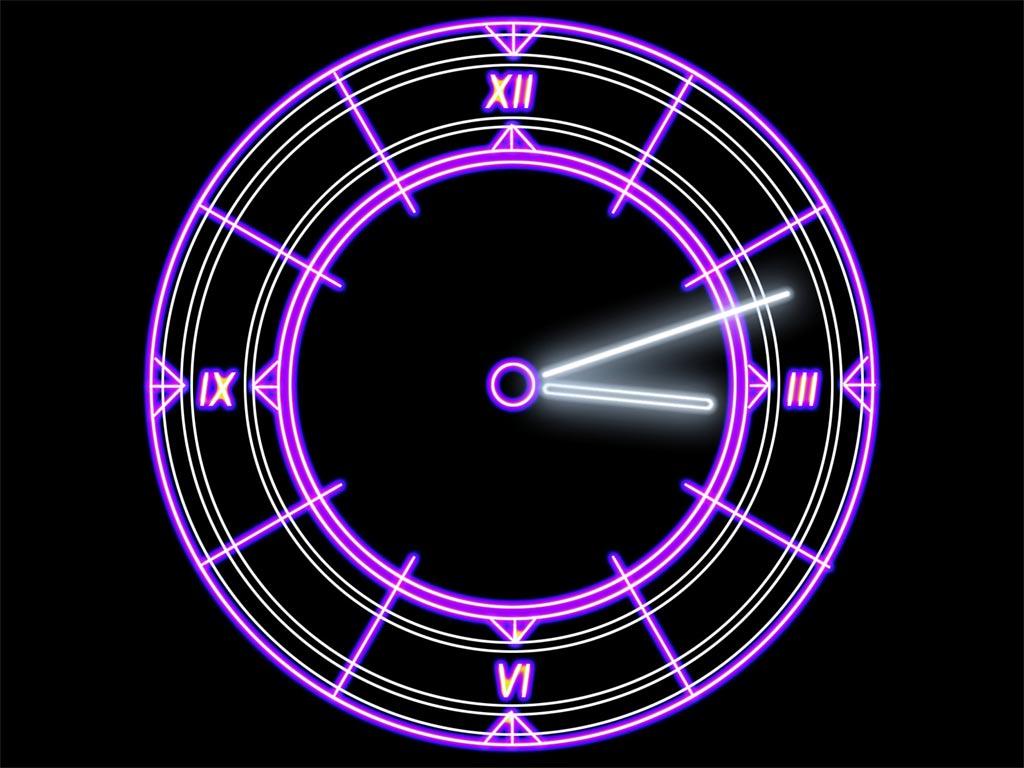 Luminescent Clock Live Wallpaper
