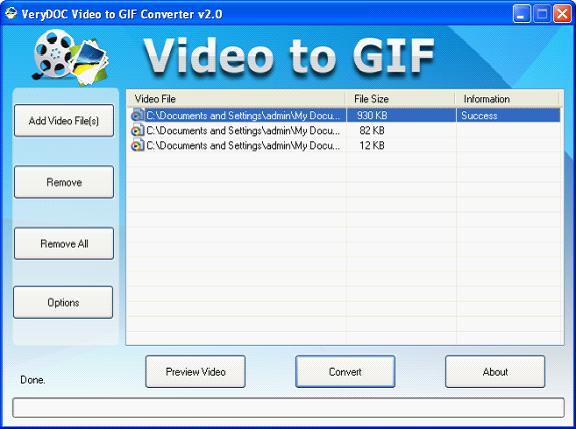 MOV to Animated GIF Converter