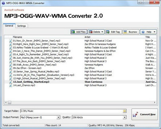 MP3-OGG-WAV-WMA Converter