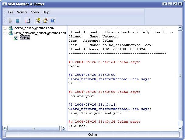 MSN Monitor & Sniffer