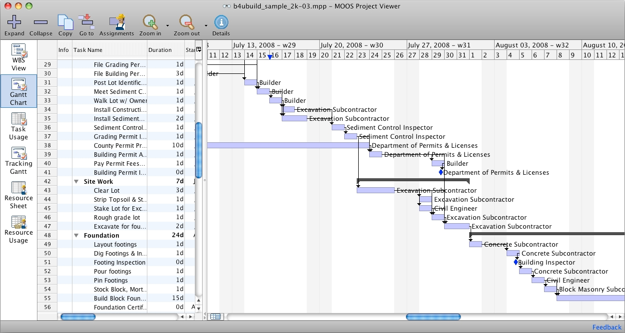 MS Project Viewer for Mac