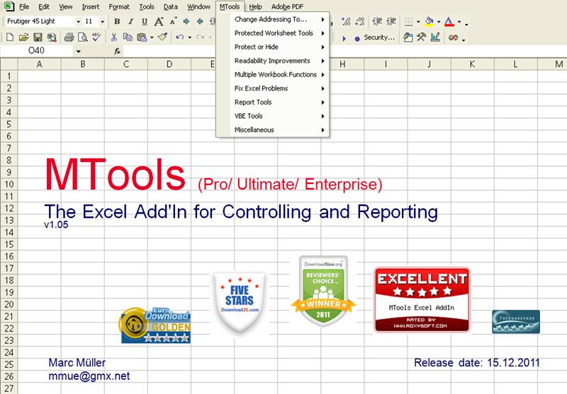 MTools Excel Add on (Free)
