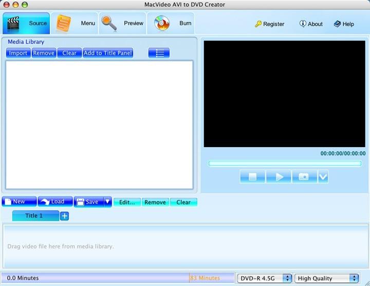 MacVideo AVI to DVD Creator
