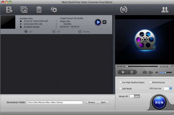 MacX QuickTime Video Converter Free