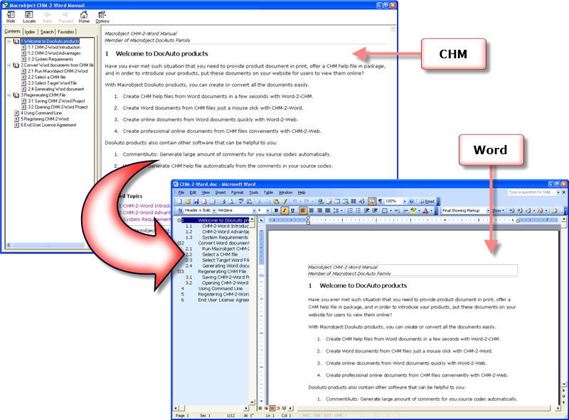 Macrobject CHM-2-Word 2007 Professional