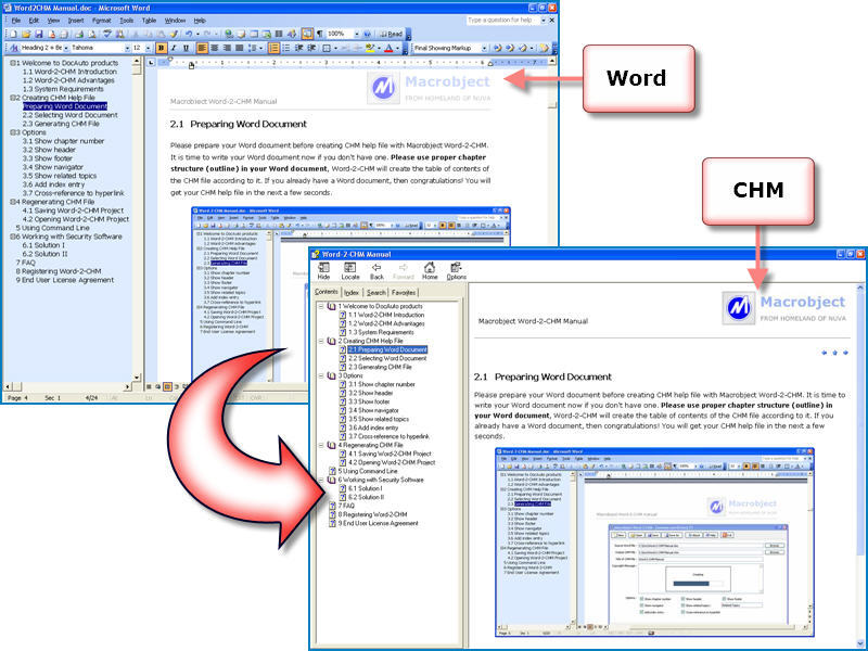 Macrobject Word-2-CHM 2007 Professional
