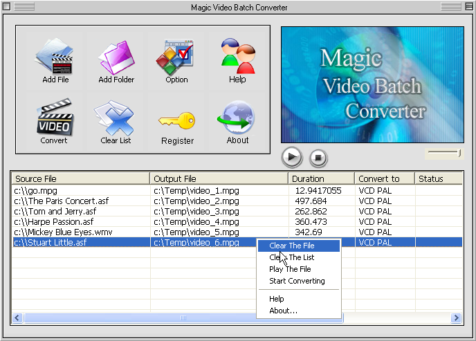 Magic Video Batch Converter