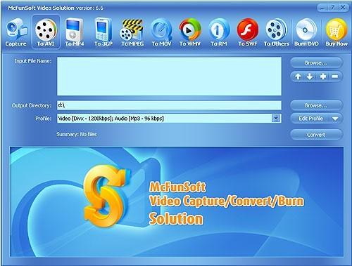 McFunSoft Video Capture/Convert/Burn DVD Solution