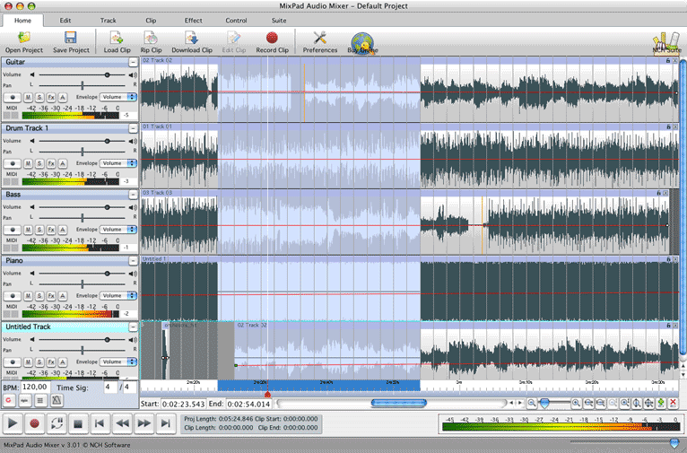 MixPad Mac Multitrack Audio Recorder and Mixer
