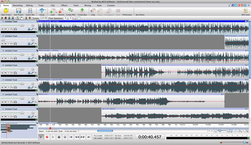 MixPad Music Mixer Free for Mac