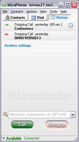 Mizu VoIP SoftPhone
