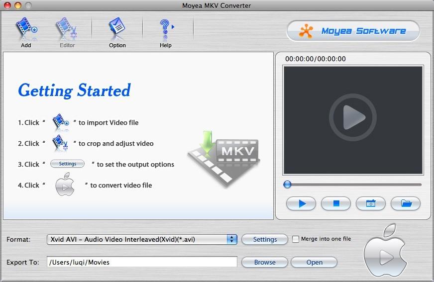 Moyea MKV Converter for Mac