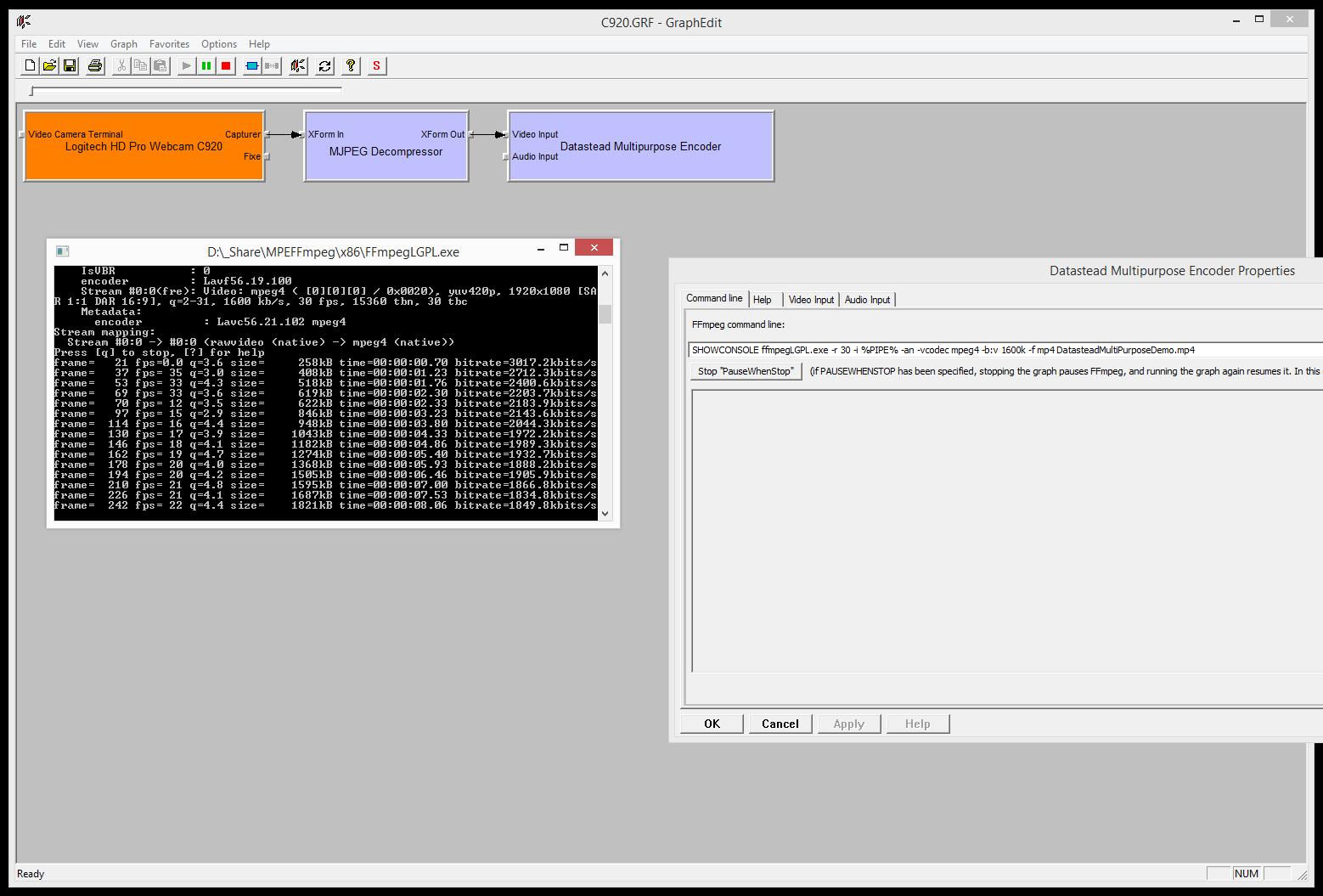 Multipurpose DirectShow Encoder SDK