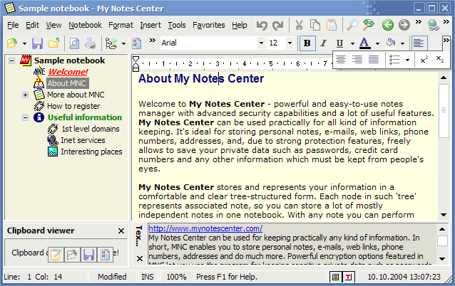 My Notes Center
