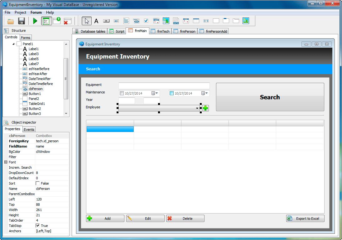 My Visual Database