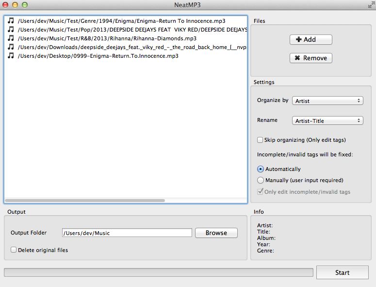 NeatMP3 for Mac