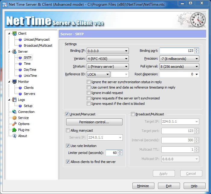 Net Time Server & Client