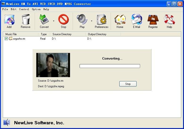 RM To AVI VCD SVCD DVD Converter