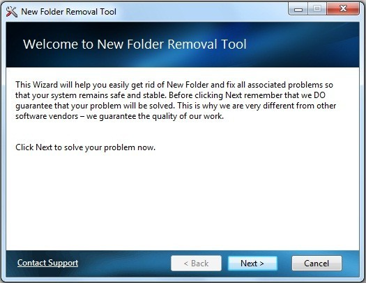 Newfolder Removal Tool