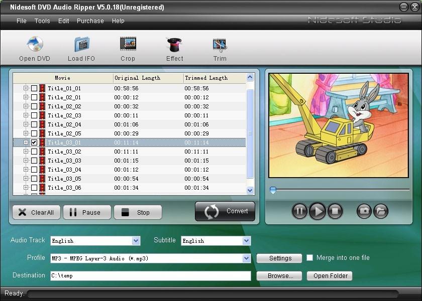 Nidesoft DVD Audio Ripper