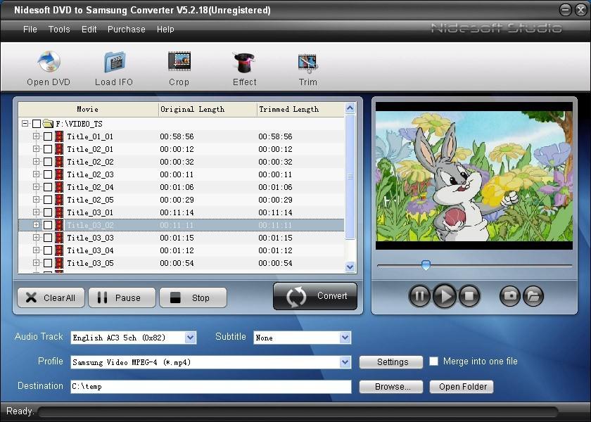 Nidesoft DVD to Samsung Converter