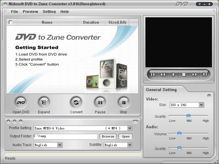 Nidesoft DVD to Zune Suite
