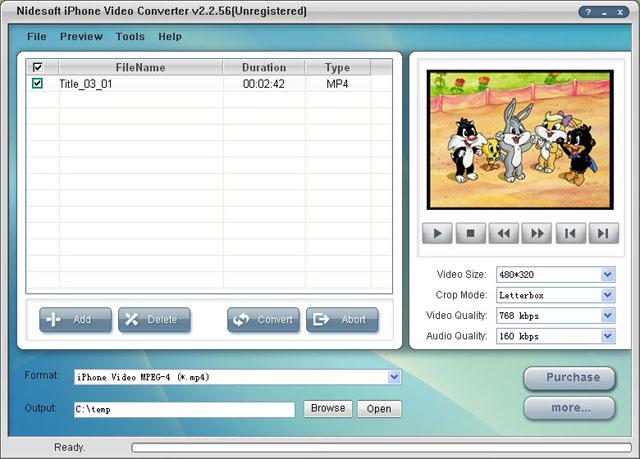 Nidesoft iPhone Video Converter