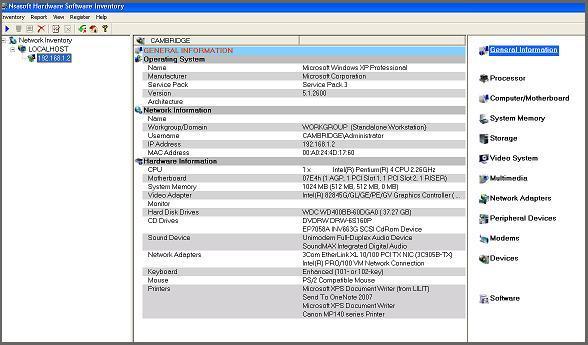Nsasoft Hardware Software Inventory