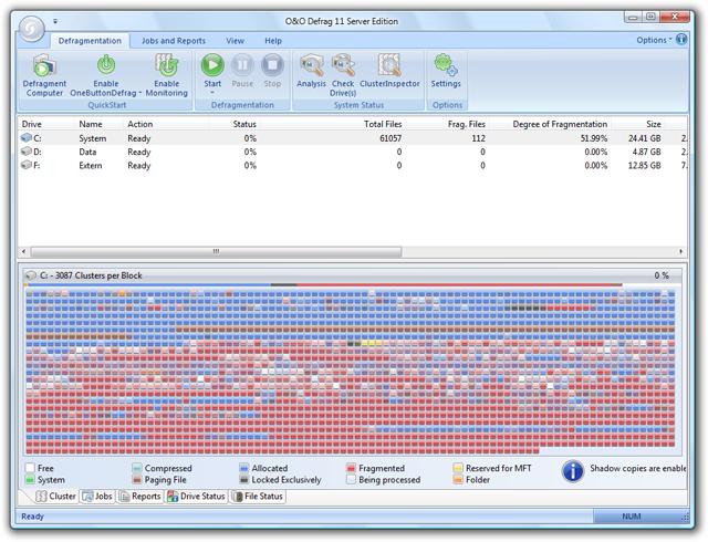 O&O Defrag 11 Server Edition