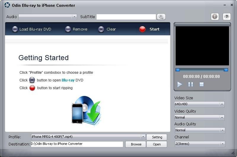 Odin Blu Ray DVD to iPhone Ripper