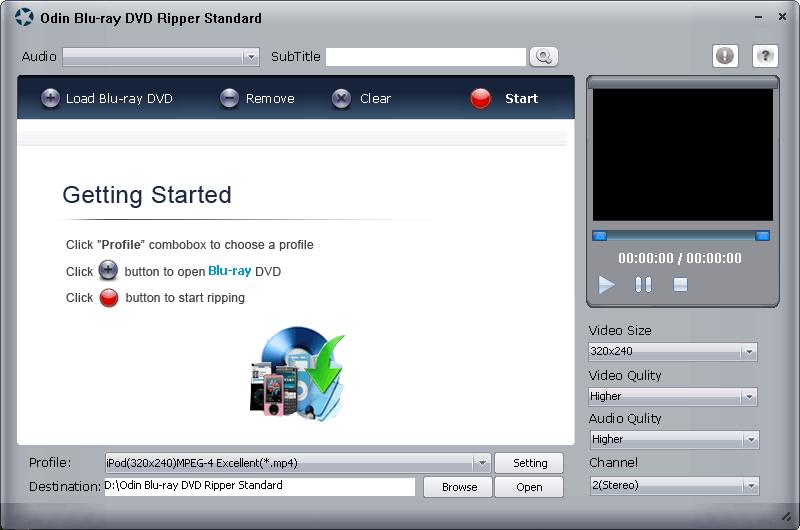 Odin Blue Ray DVD Ripper Standard