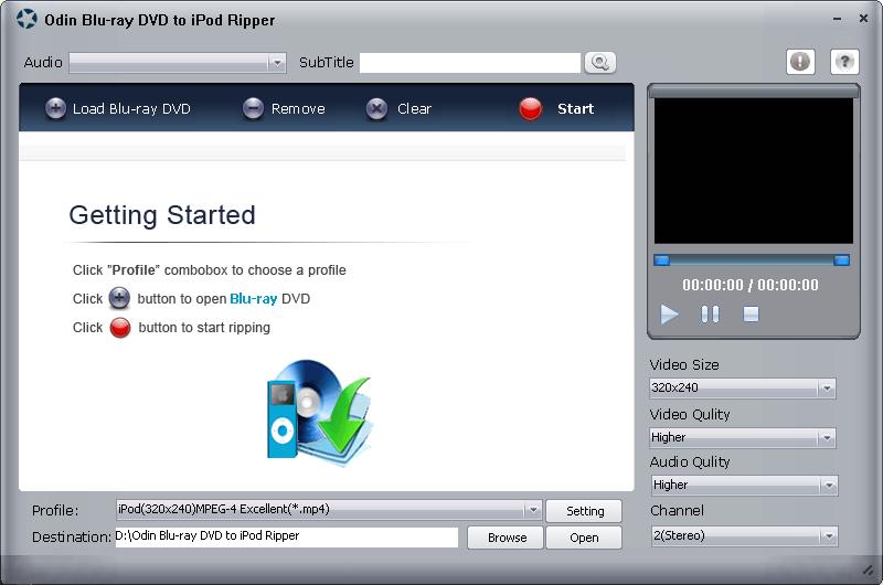 Odin Bluray DVD to iPod Ripper