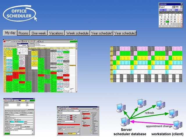 Office-Scheduler (network agenda)