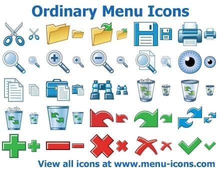 Ordinary Menu Icons