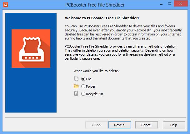 PCBooster Free File Shredder