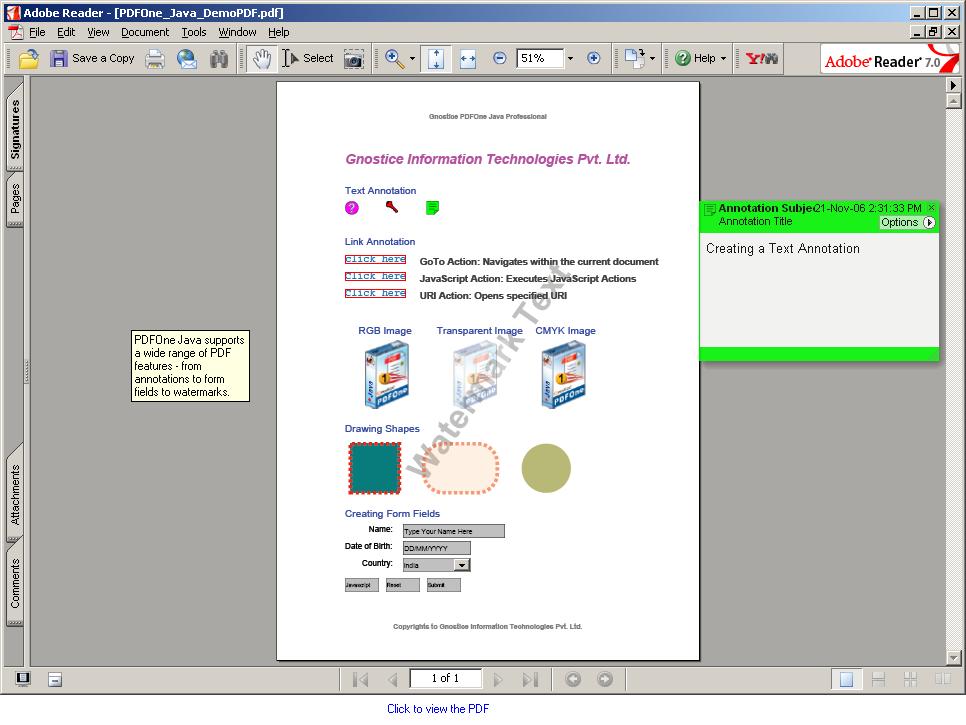 PDFOne Java Pro