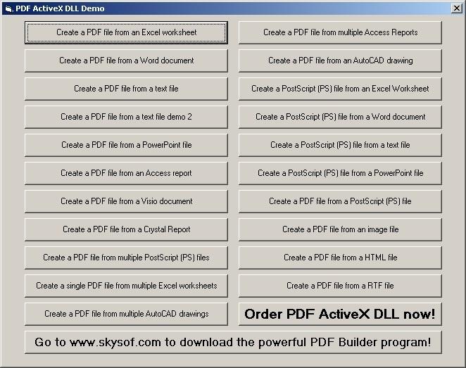 PDF ActiveX DLL