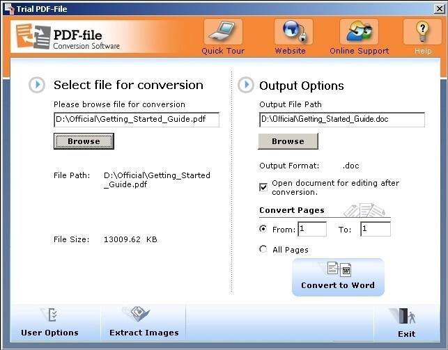 PDF-File PDF Converter to Convert PDFs