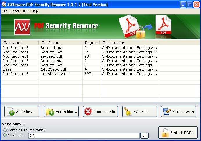 PDF File Security Remover